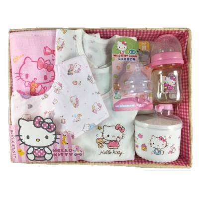 三麗鷗 Hello Kitty 凱蒂貓新生兒童玩寶寶彌月禮盒組-B款