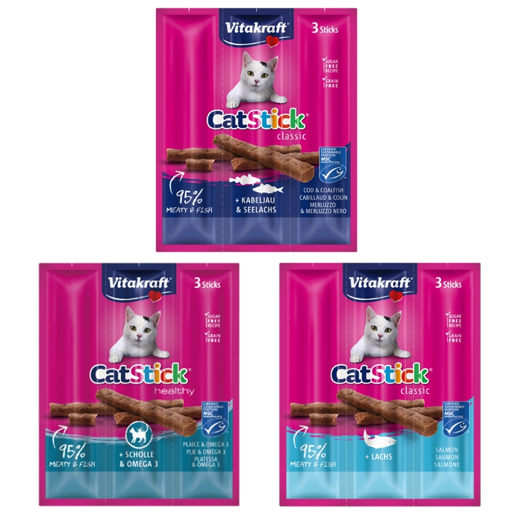 德國Vitakraft CatStick貓快餐 10包(18g三條/包)