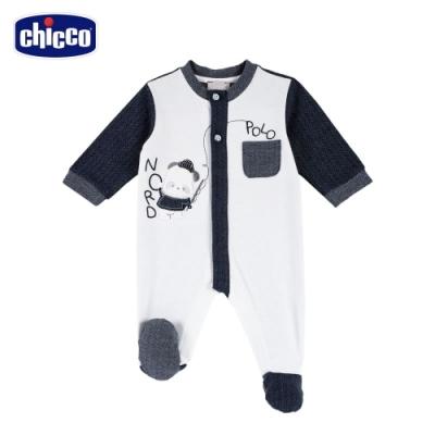 chicco-熊貓小釣手-山型紋前開兔裝