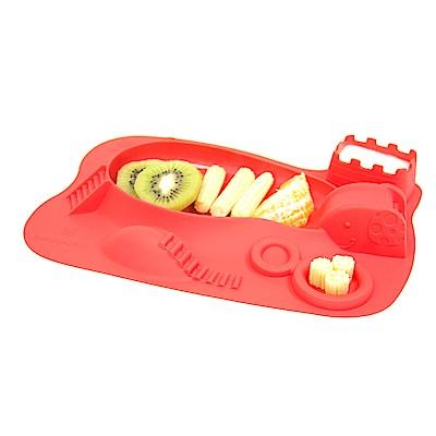 【MARCUS&MARCUS】動物樂園遊樂造型餐盤-獅子(紅)