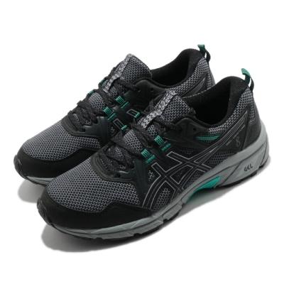 Asics 慢跑鞋 Gel Venture 8 D 寬楦 女鞋 亞瑟士 避震 緩衝 耐磨 亞瑟膠 黑 綠 1012A706004