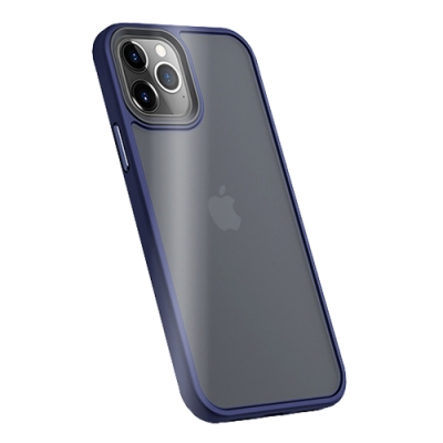 Benks iPhone12 Pro Max (6.7 ) 防摔膚感手機殼-海軍藍