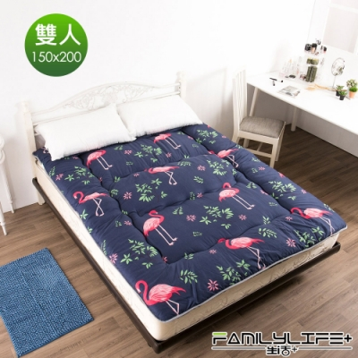 【FL生活+】日式加厚8cm雙人床墊(150*200cm)-火烈鳥(FL-109-L)