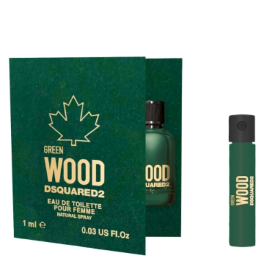 *DSQUARED2 GREEN WOOD 心動綠男性淡香水針管 1ml