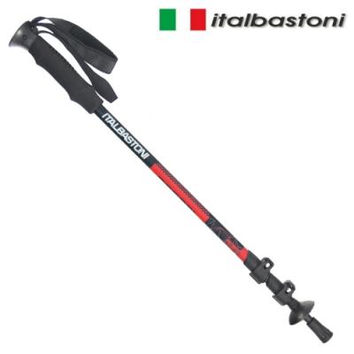 義大利 italbastoni PORDOI 鋁合金快扣登山杖-紅