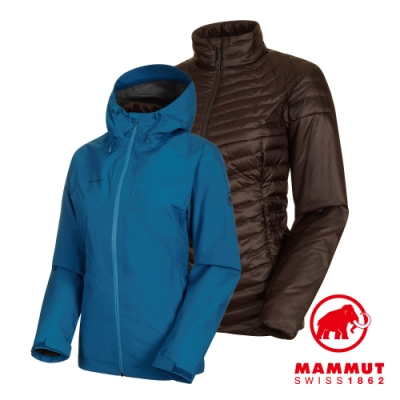 【Mammut 長毛象】Convey3in1 GTX兩件式 藍/棕 女#1010-27420