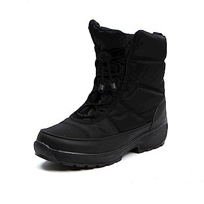 【AIRKOREA韓國空運】正韓保暖抽繩防風鋪棉內鋪中筒靴-黑