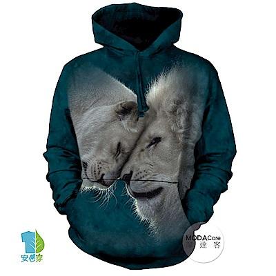摩達客 美國The Mountain 白獅之愛 中性套頭長袖連帽T恤
