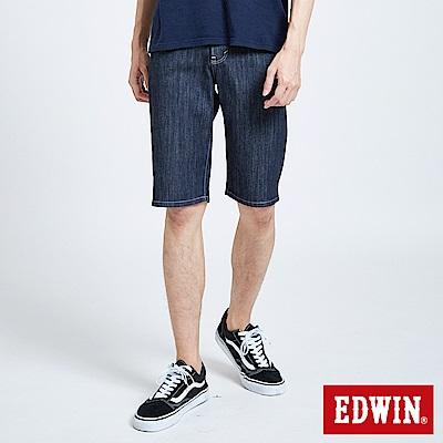 EDWIN EDGE涼感牛仔短褲-男-原藍色