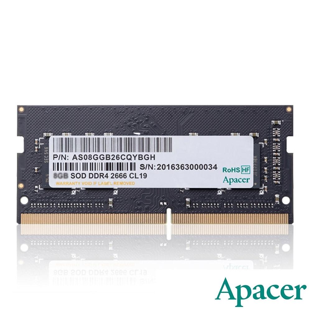 Apacer 16GB DDR4 2666 1024x8 筆記型記憶體