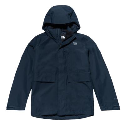 The North Face北面男款藍色防水透氣衝鋒衣|46L6H2G