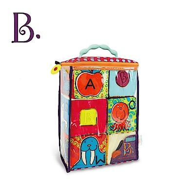 美國【B.Toys】ABC方塊派對布積木(芽綠)
