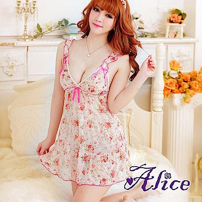 Alice極度誘惑蕾絲情趣內衣吊帶睡裙sm-AK028