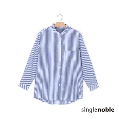 獨身貴族 率性條紋百搭造型上衣(2色)