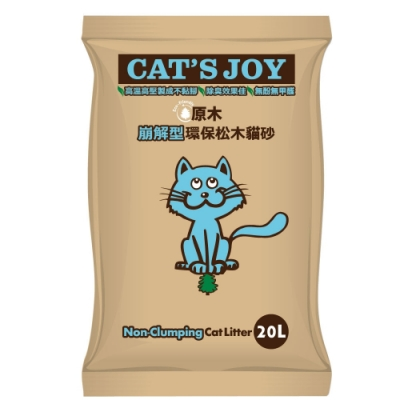 喜樂貓CAT S JOY-崩解型環保松木貓砂-原木 20L