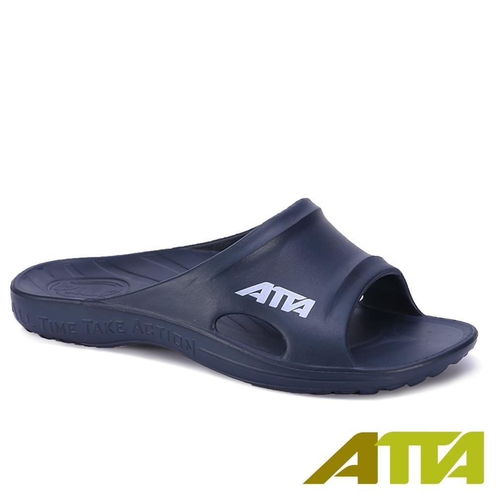 ATTA 足弓支撐休閒拖鞋-深藍