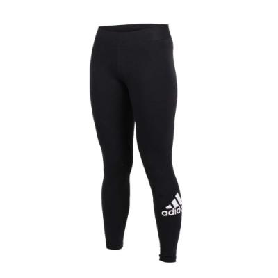 ADIDAS 女緊身長褲-路跑 慢跑 運動 健身 緊身褲 愛迪達 黑白
