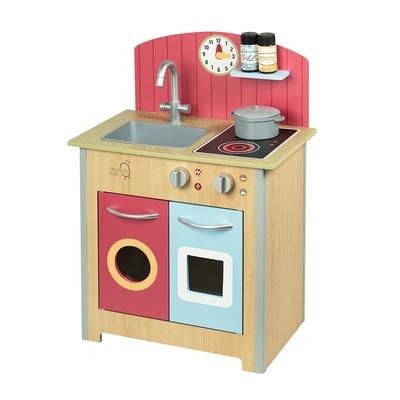 (時時樂限定)Teamson小廚師波爾多經典家家酒木製兒童廚房玩具