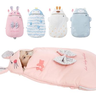 嬰兒抱被 新生兒防驚嚇感溫襁褓包巾加厚純棉寶寶動物睡袋
