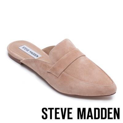 STEVE MADDEN-FLAVOR 經典款極素尖頭底跟穆勒鞋-卡其
