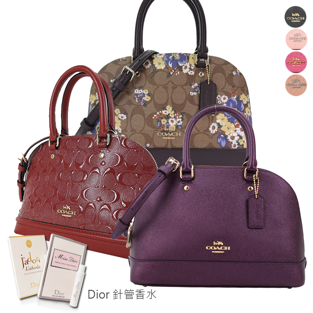 COACH 經典熱銷兩用保齡球包贈送Dior針管香水(7色選)