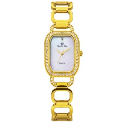 Olympia Star 奧林比亞之星 戀戀時光時尚晶鑽鍊錶 28036DLK
