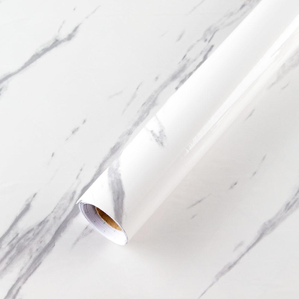 (2入)樂嫚妮 DIY裝修加厚防水大理石紋壁貼60X300cm-爵士白