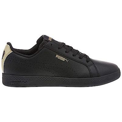 PUMA-SmashWnsPerfMet女性復古網球運動鞋-黑色