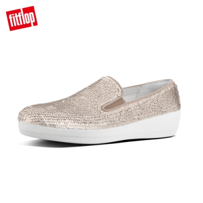 FitFlop SUPERSKATE SEQUINS LOAFERS 米白