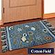 棉花田 艾菲-花園 純棉刺繡香奈絨編織鬚邊踏墊(45x70cm) product thumbnail 1