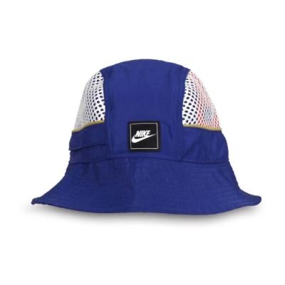 NIKE 運動帽 藍銀