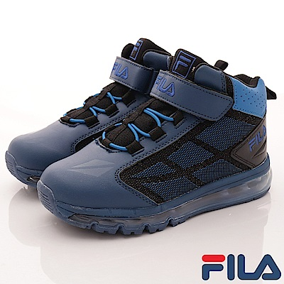 FILA頂級童鞋款 氣墊籃球鞋款 EI15Q-303藍(中大童段)0