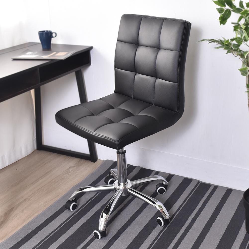 凱堡 九宮皮革二代鐵腳辦公椅/電腦椅/工作椅