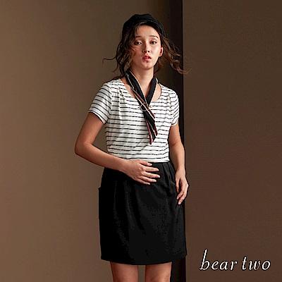 beartwo 休閒橫紋連身洋裝(二色)