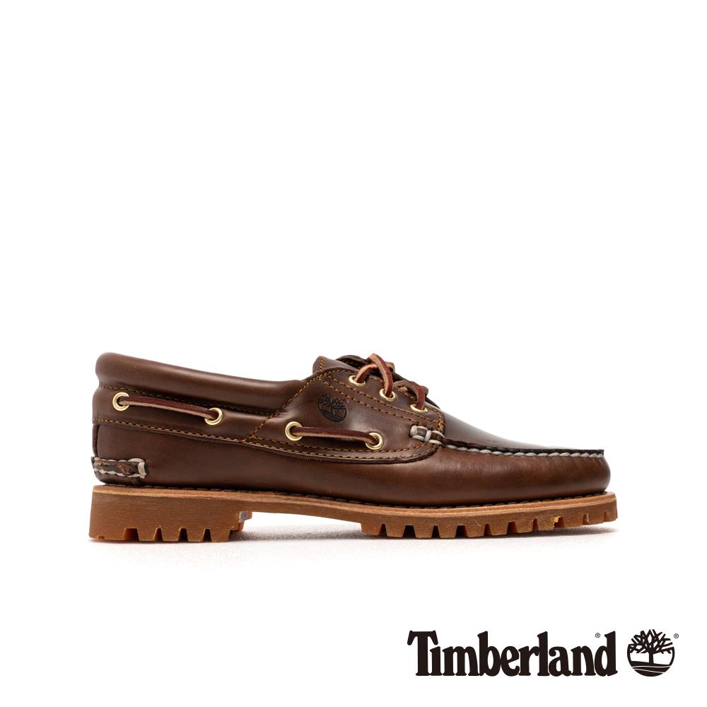 Timberland 女款深棕色手工縫製經典三孔帆船鞋|51304