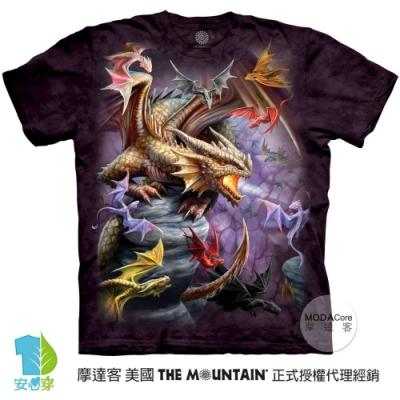 摩達客-美國進口The Mountain 龍群 純棉環保藝術中性短袖T恤