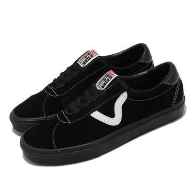 Vans 休閒鞋 Sport 板鞋 基本百搭款 情侶鞋 男女鞋 Flying V logo 街頭穿搭推薦 黑 白 VN0A4BU6BKA