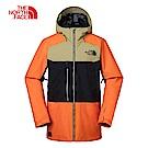 The North Face北面男款橙黑撞色滑雪外套|3IFB6NS