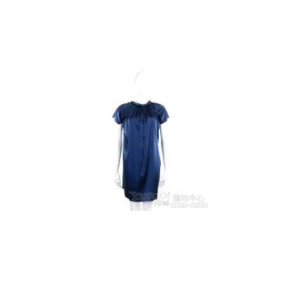 Love Sex Money 藍色特殊領設計絲緞洋裝