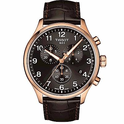 TISSOT天梭韻馳系列XL計時碼表-黑金45mm