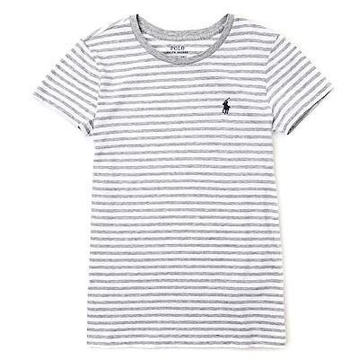 Polo Rlaph Lauren 熱銷小馬圓領素面短袖T恤(女)-白灰色