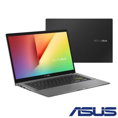 ASUS S433EQ 14吋筆電(i5-1135G7/MX350/16G/512G SSD/VivoBook S14/搖滾黑)