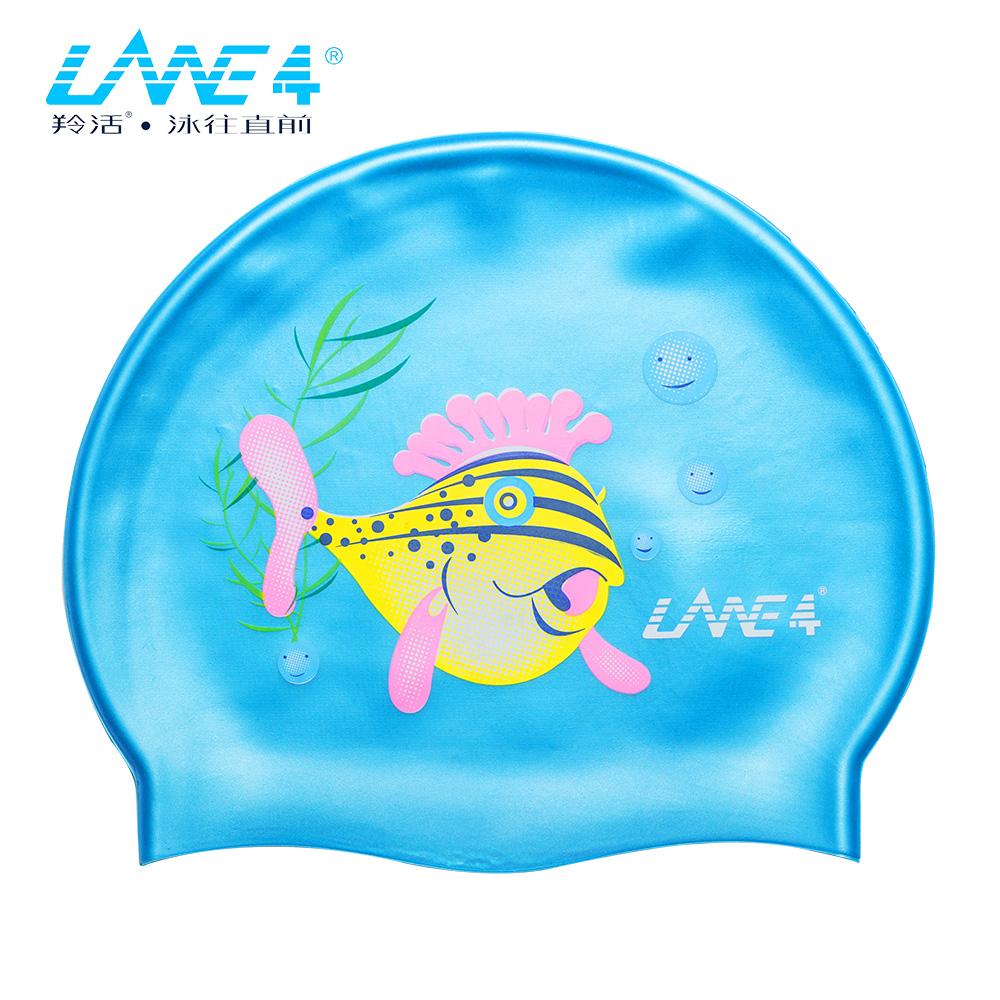 羚活 兒童矽膠泳帽 河豚 LANE4 SILICONE CAP