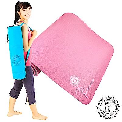 FunSport微笑心花環保雙色瑜珈墊-12mm灰紅送背袋