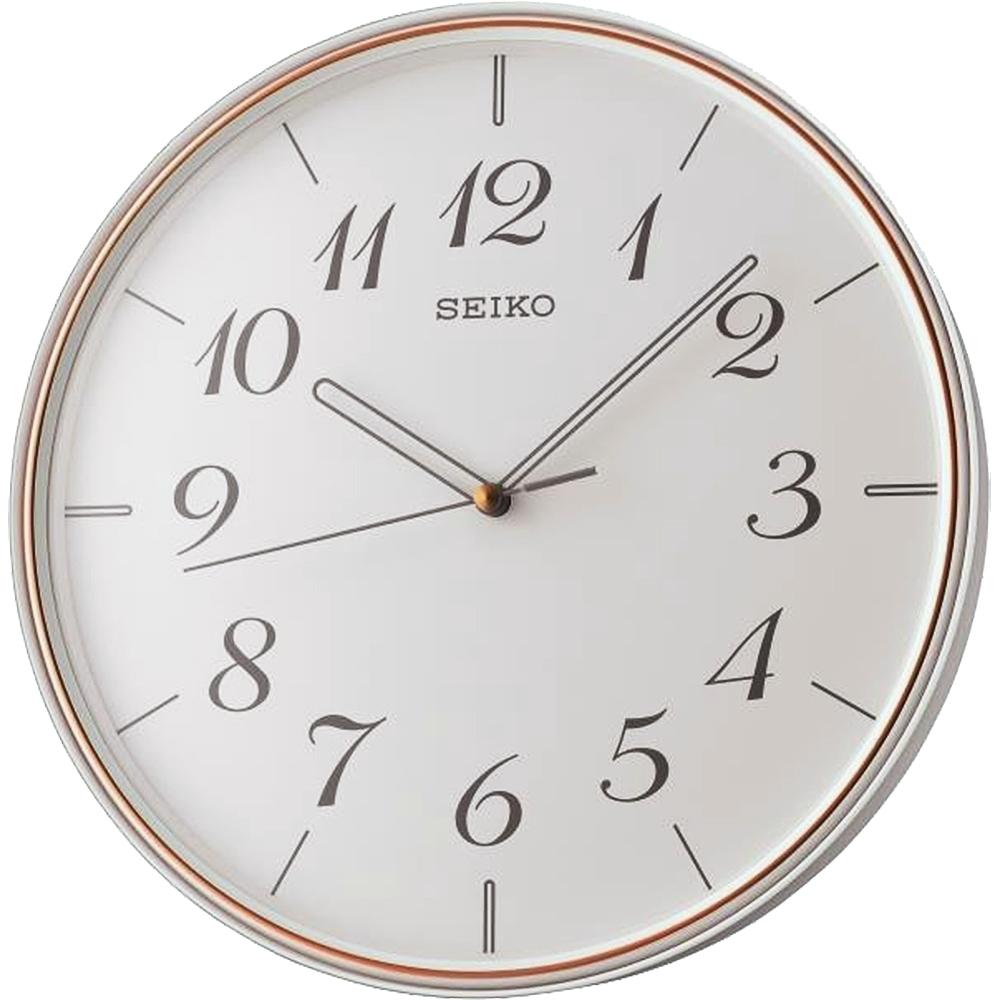 SEIKO 日本精工 時鍾 掛鐘 滑動式秒針 靜音-QXA739W-白/28cm