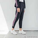 GIORDANO 女裝G-MOTION線條撞色長褲-36 標誌海軍藍