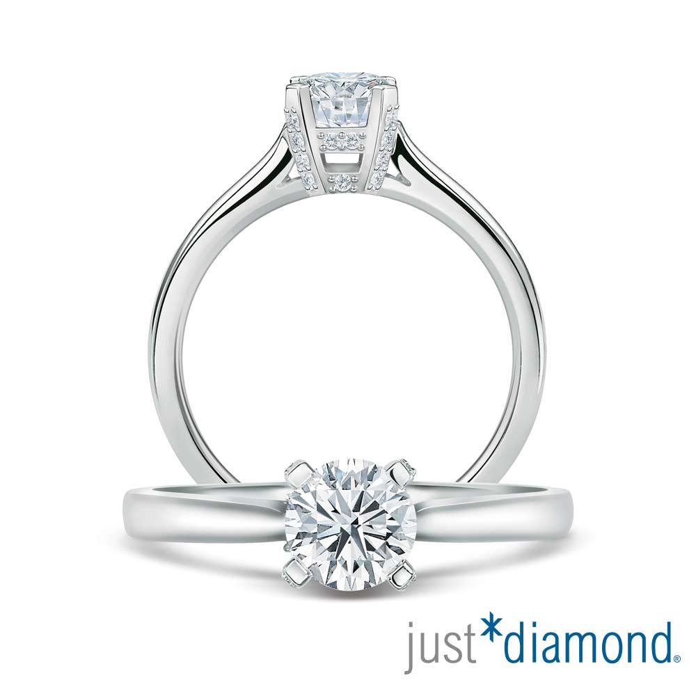 Just Diamond 幸福綻放 GIA 0.3克拉18K金鑽石戒指