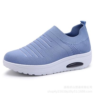 韓國KW美鞋館-悠活城市透氣休閒鞋-藍色