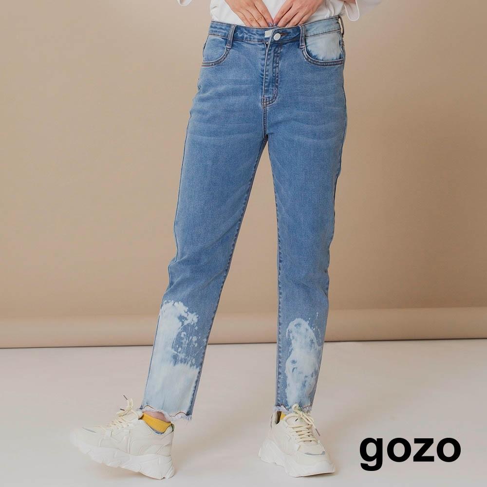 gozo-雪花潑點彈性牛仔褲(兩色)