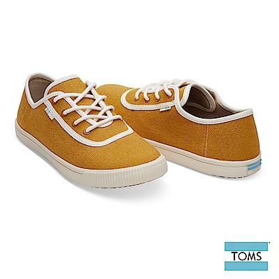 TOMS 素面車邊綁帶帆布休閒鞋-女款-Topanga系列